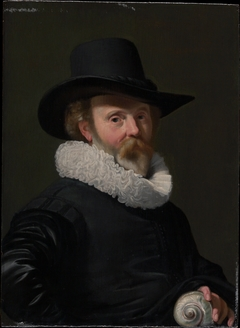 Portrait of a Man with a Shell