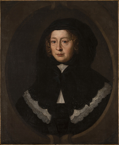Portrait of a woman with a black hood