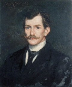 Portrait of a Young Man with a Moustache