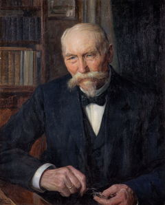 Portrait of founding physicist Kiær