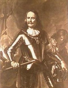 Portrait of Michiel de Ruyter with a Servant