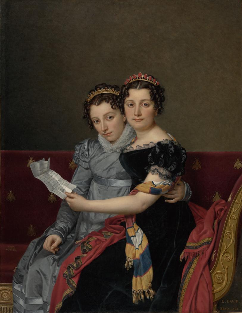 Portrait of the Sisters Zénaïde and Charlotte Bonaparte