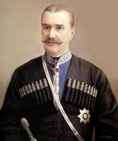 """""""Portrait of V.A. Volotsky, the Retired GeneraL of the Terek Cossack Army"""""""