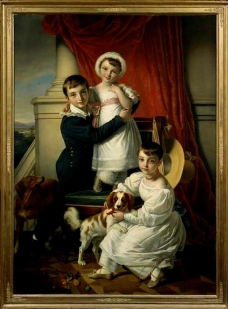 Portret van de kinderen Van Romondt