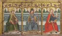 Predella panel with Saint Martial, Saint Sebastian, and Saint Mary Magdalen from Retable