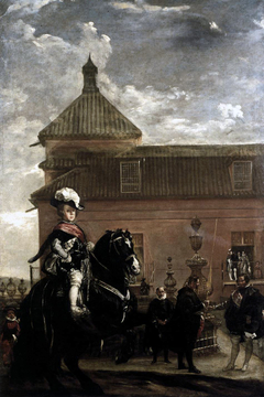 Prince Baltasar Carlos with the Count-Duke of Olivares at the Royal Mews