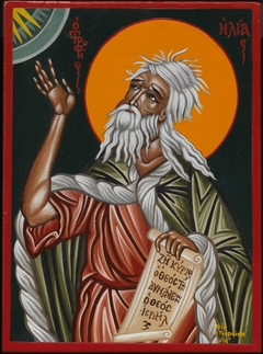 Prophet Elias - Egg tempera on wood