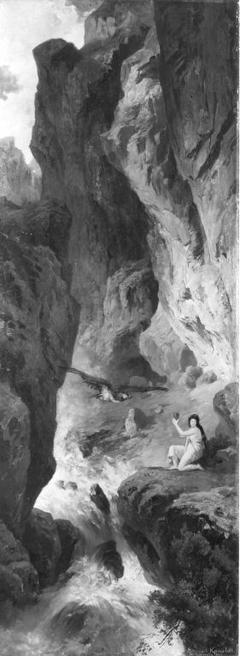 Psyche holt für Venus die Schönheitssalbe aus der Unterwelt