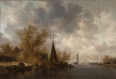 River Landscape with Fishing Boats