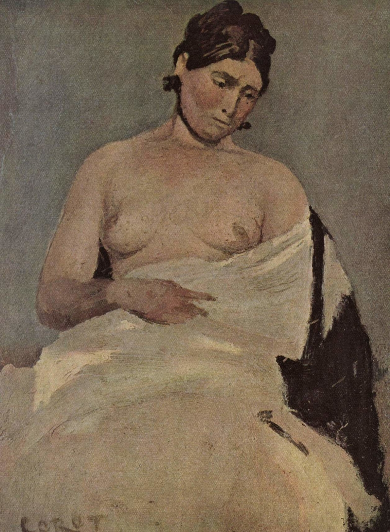 Seated Woman With Bare Bosom
