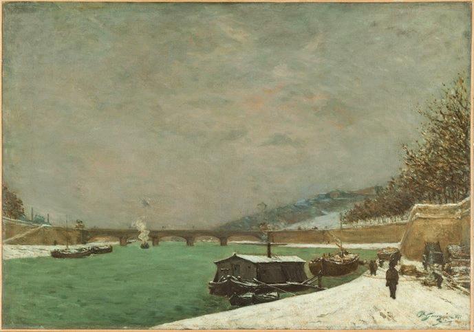 Seine River Seen From Iéna Bridge