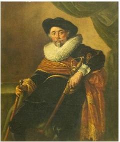 Self-portrait dressed as Colonel Cornelis Backer