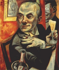 Self-portrait with Champagne Glass