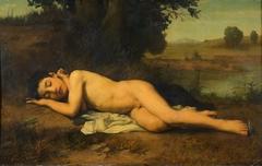 Sleeping young Bather