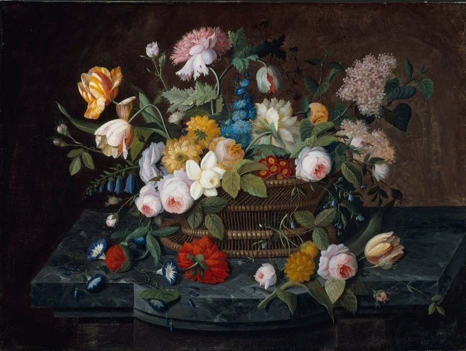 Still Life-Flowers in a Basket