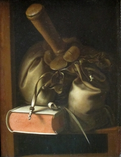 Still Life with Book and Purse
