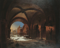 Sunset upon Walkenried Abbey