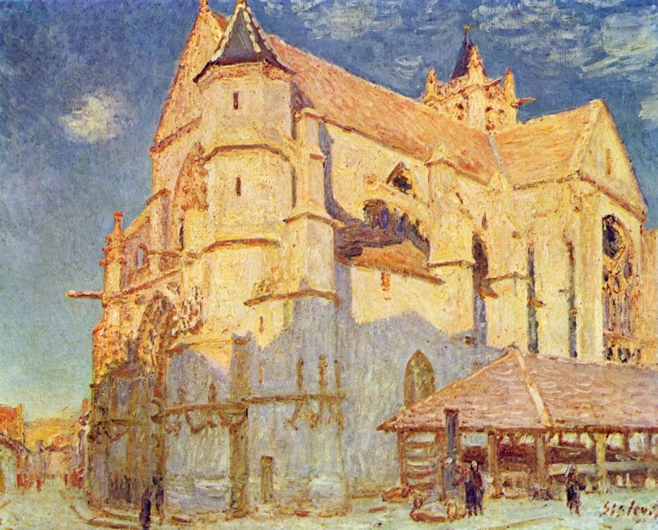 The Church in Moret (full sunlight)