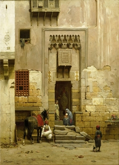 The Courtyard of a house in Cairo