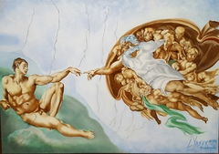 The Creation of Adam after Michelangelo