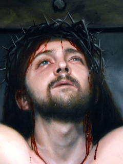 The Crucifixion (detail of face)