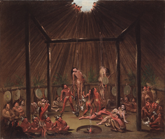 The Cutting Scene, Mandan O-kee-pa Ceremony