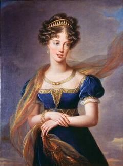The Duchesse de Berry in a Blue Velvet Dress