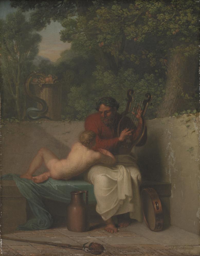 The Greek Poet Anacreon and Bathyll