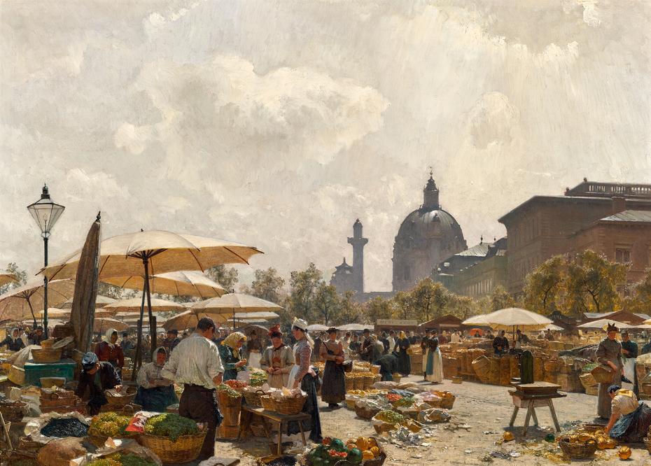 The Naschmarkt in Vienna