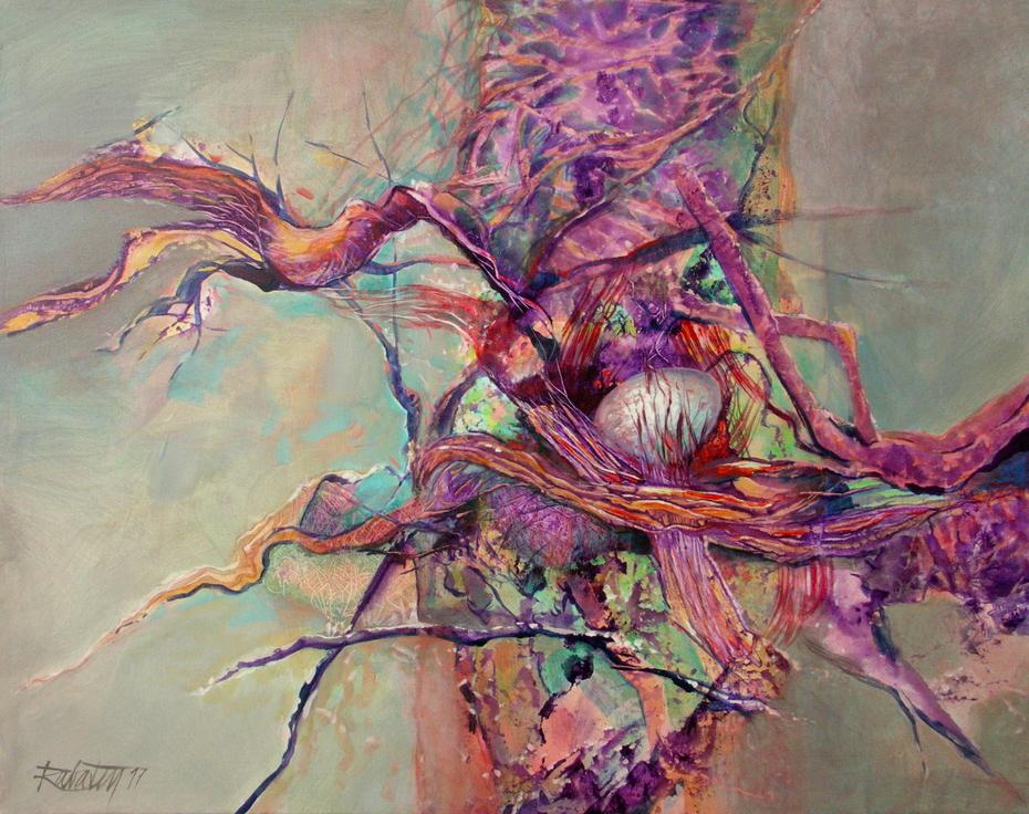 The Nest, acrylic on canvas, 90x120 cm