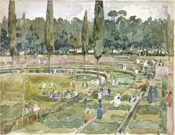The Race Track (Piazza Siena, Borghese Gardens, Rome)