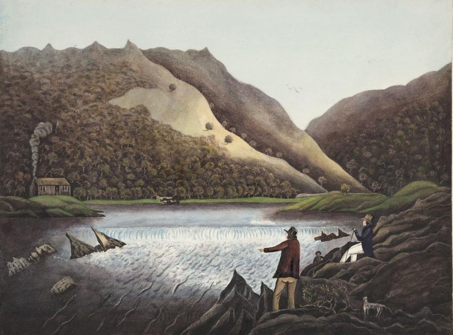 The River Rhydol.