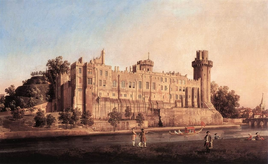 The South Façade of Warwick Castle