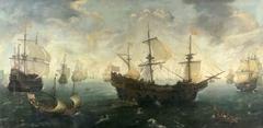 The Spanish Armada off the English Coast in 1588