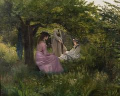 Three Ladies in a Garden