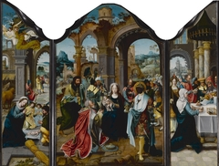 Triptych of Nativity, Adoration of the Magi, Presentation in the Temple