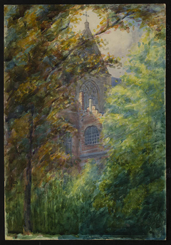 Untitled (Church through trees)