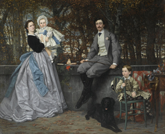 Portrait of the Marquis and Marchioness of Miramon and their Children (Portrait du marquis et de la marquise de Miramon et de leurs enfants)