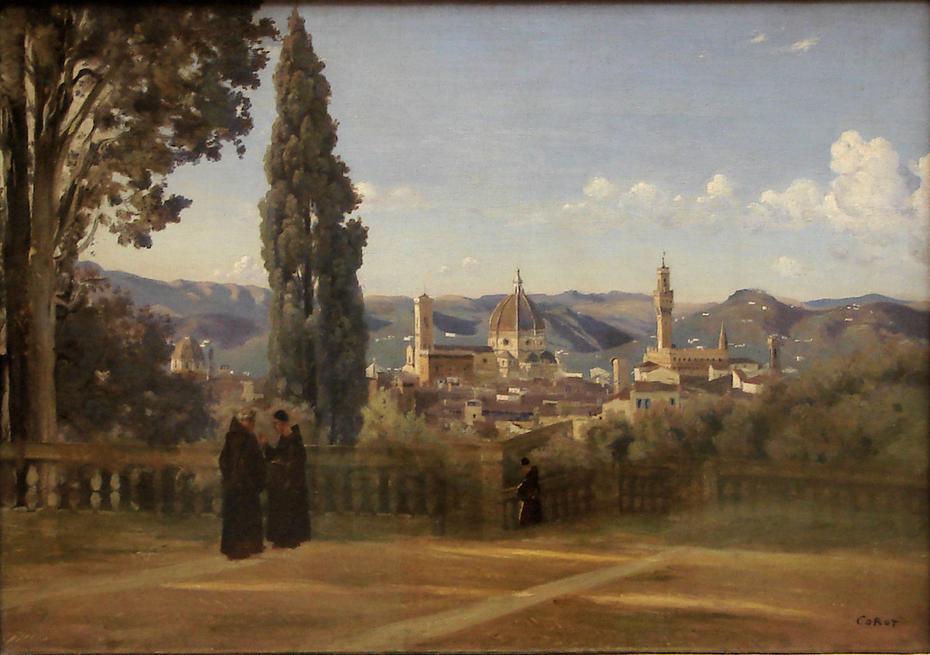 Florence. Vue prise des jardins Boboli