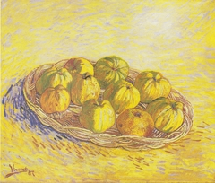 Still life with apple basket