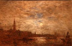 Venise, grand canal au clair de lune