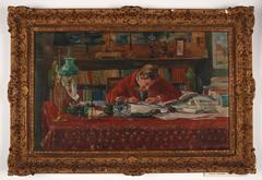 Verhaeren writing at his desk