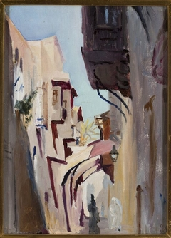 Via Dolorosa in Jerusalem. From the journey to Palestine