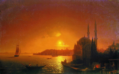 View of Constantinople by moonlight.