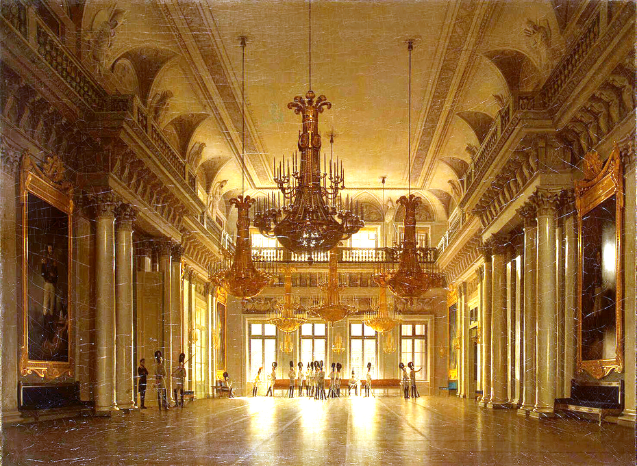 View of the Fieldmarshals' Hall in the Winter Palace