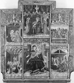 Virgin and Child Enthroned with Scenes from the Life of the Virgin