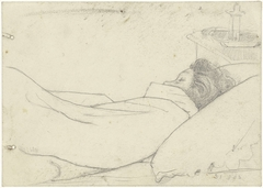 Vrouw van Richard Roland Holst in bed
