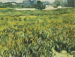 Wheat Field at Auvers with House