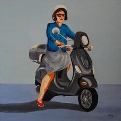 Woman on scooter-Adam Michalik