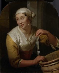 Woman selling herring